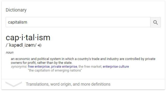 Capitalism Defined