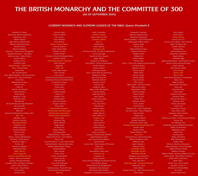 Council of 300 and the British Monarchy