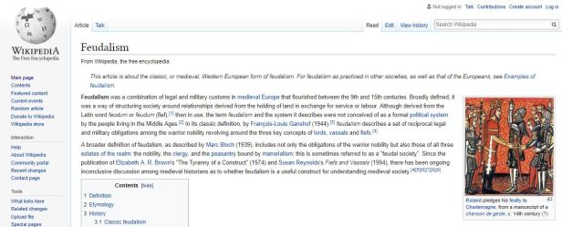 Feudalism Wikipedia Summary