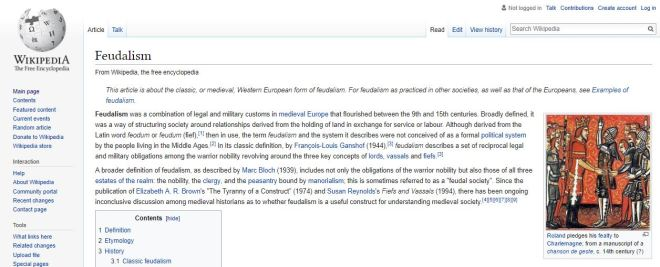 Feudalism Wikipedia Summary