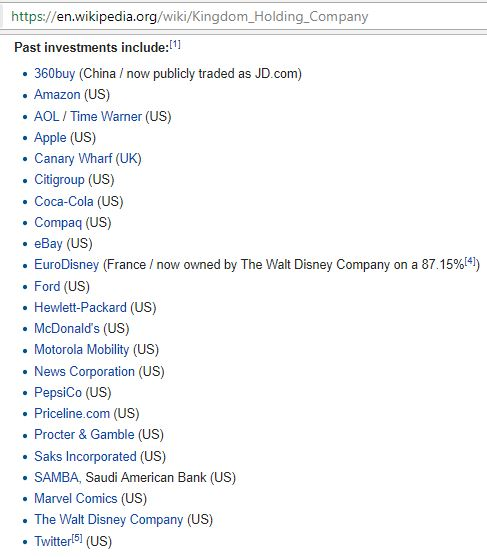 Kingdom Holding Company 2 Past