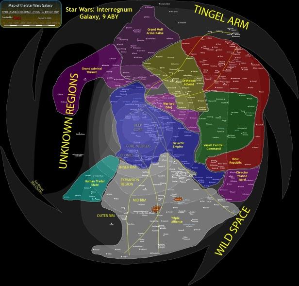 Star Wars Galactic Map
