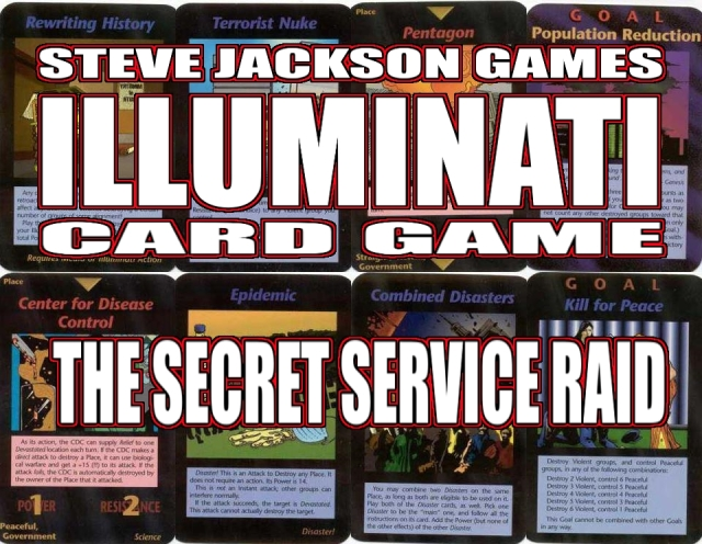 Steve Jackson's Illuminati Card Game Banner Secret Service Raid