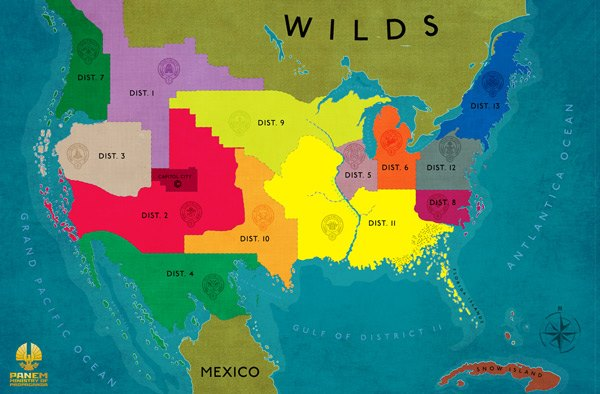 The Hunger Games US Map