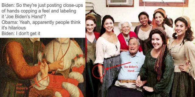 .0 Joe Biden's Hand - George Bush Senior BANNER