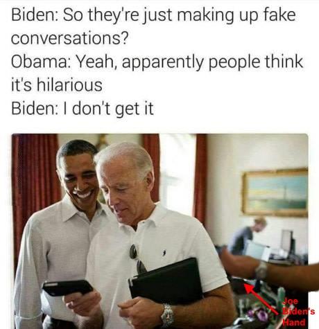 .1 Joe Biden's Hand Classic I Don't Get It Obama