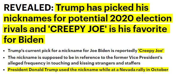 181115 Creepy Joe Bide Trump Nick Name hl