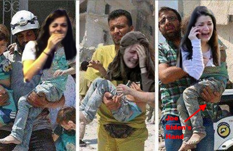 .3 Aleppo Little Girl Juxtaposed with Crisis Actor Girl