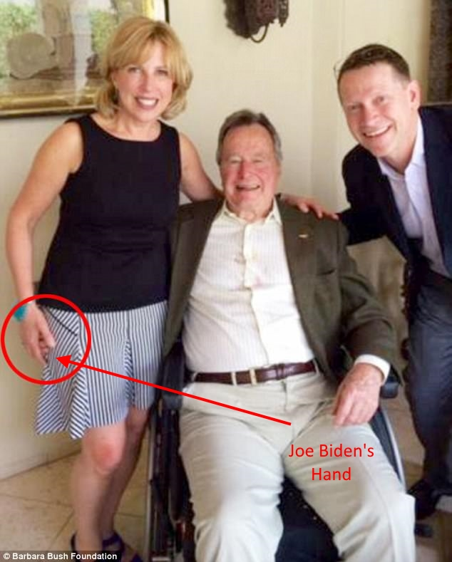 .4b Joe Biden's Hand - George HW Bush 2