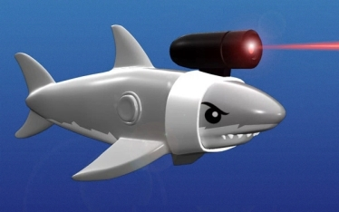 6 Shark with Laser Beam Toy
