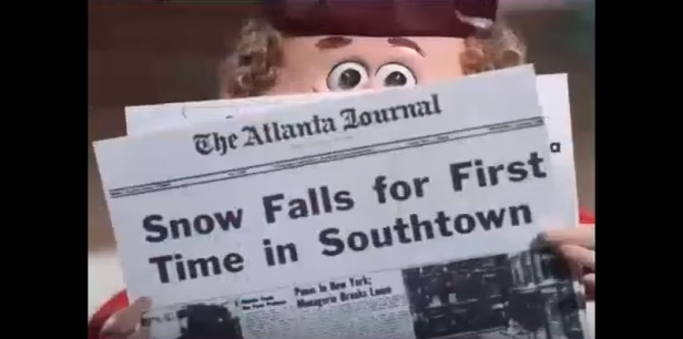 A Year Without Santa Claus Snow In Southtown Banner
