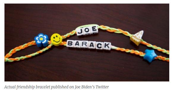 . Actual Barack Joe Friendship Bracelets shared on Twitter