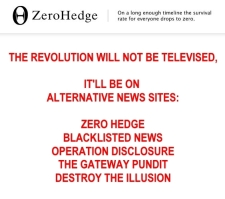 Alternaitve News Sites the Revolution won't be Televised