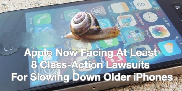 Apple Now Facing 8 Class Action Law Suits Slow Down iPhone Snail