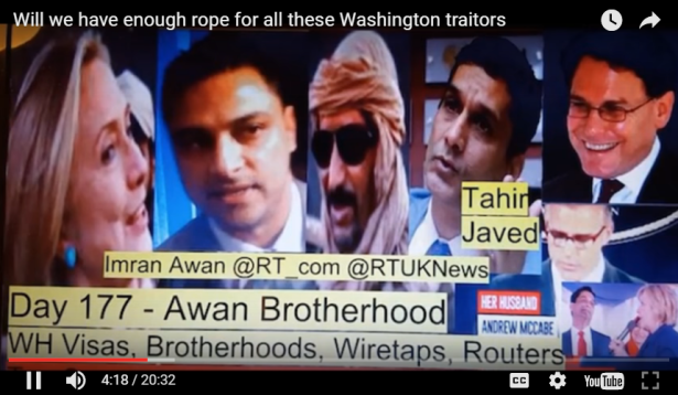 AWAN Brothers - DEMORATS under DEBBIE WASSERMAN BROUGHT IN PAKISTANI SPIES to RUN Demorats CELL-PHONES & SERVER NETWORKS !!
