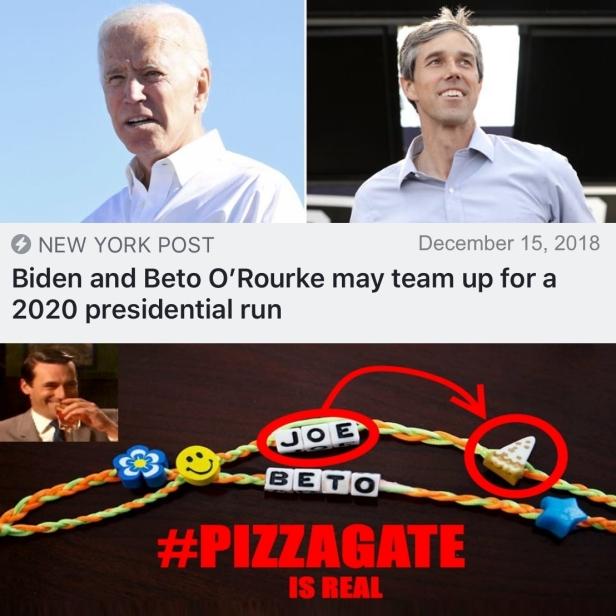 . BETO Joe Friendship Bracelets #PIZZAGATE Biden 2020 Drink Like Draper2