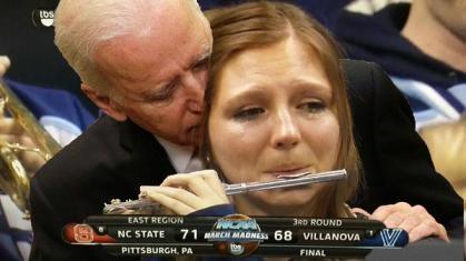 Biden Flute Piccolo Girl Crying Photoshopped