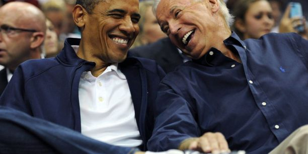 Biden Obama - Ball Game Laugh