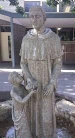 Blackfriars Priory School's statue 1