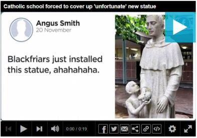 Blackfriars Priory School's statue 3