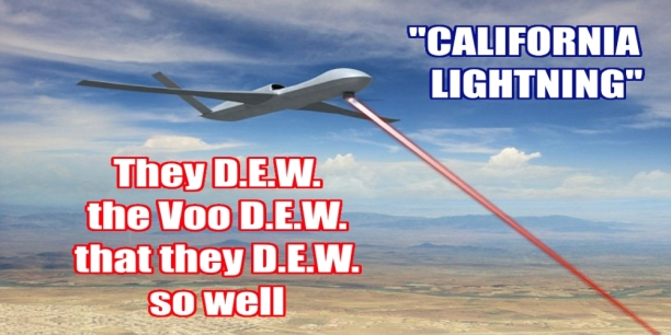 California Lighting Voo-D.E.W. Airborne High Energy Laser