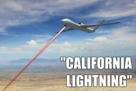 ! California Lightning Directed Energy Weapon Airborne Laser