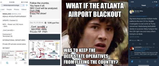 Conspiracy Keanu Atlanta Airport Blackout Deep State Operatives Tweet 4X2