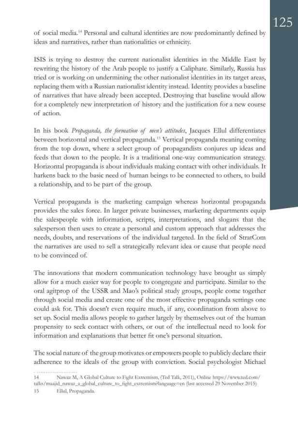 Defence Strategic Communications V1 #1 Narrative and Social Media7