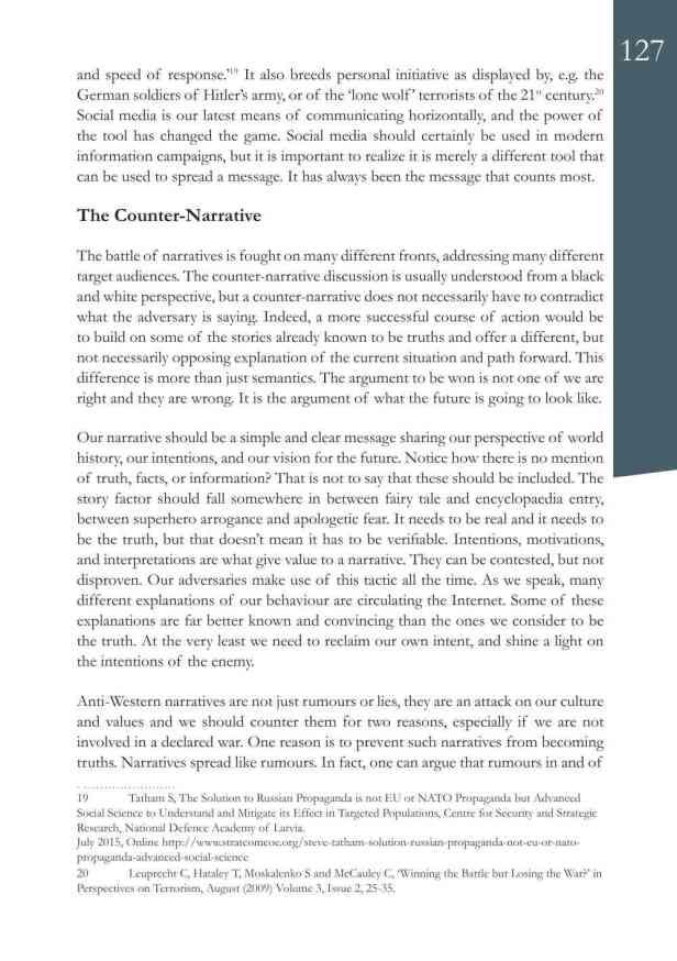 Defence Strategic Communications V1 #1 Narrative and Social Media9