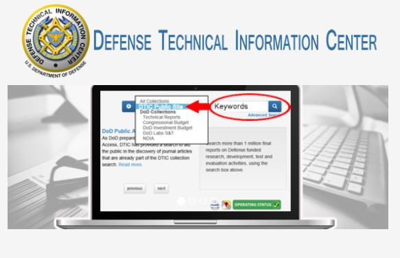 Defence Technical Information Center DTIC Banner Logo