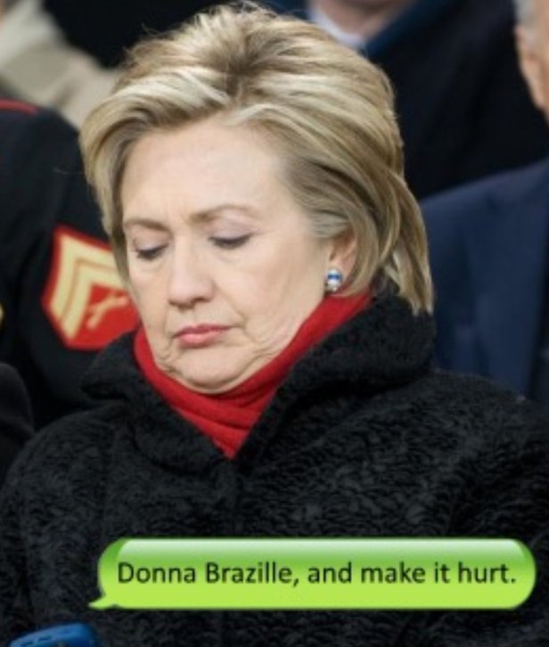 Donna Brazile, and make it hurt HRC