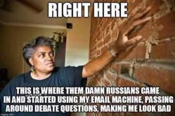 Donna Brazile - Right Here is where them Russians