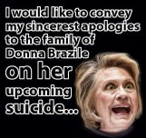 Donna Brazile's Upcoming Suicide HRC