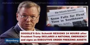 Eric Schmidt Resigns 24 hours BANNER