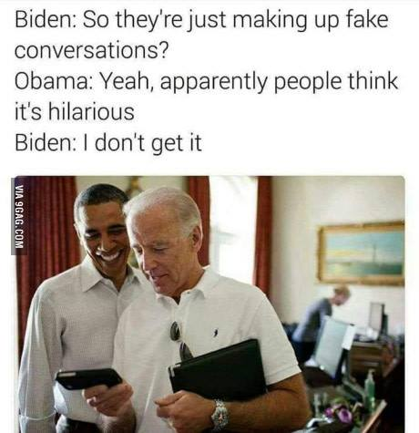 I don't get it Biden Obama