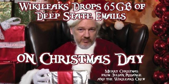 Julian Assange Drops 65GB on Christmas Day