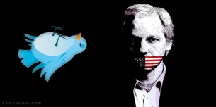 Julian Assange Wikileaks Twitter Account Dead Bird Logo Tweet