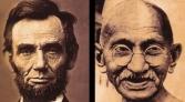 Lincoln Ghandi Diptych