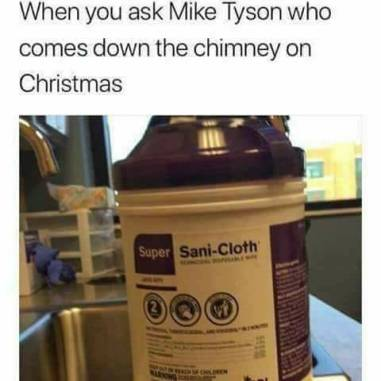 ! Mike Tyson Sani Cloth Theriously