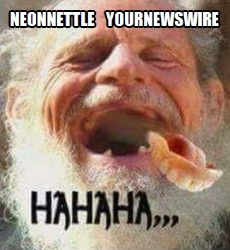 NeonNettle YourNewsWire Laughing Dentures out of mouth Hahaha