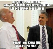Obama and Biden Joking about Hillary