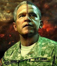 Obama-Bush Merged Chimera
