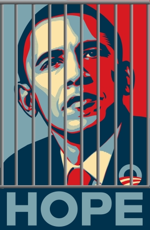 Obama Hope OBEY Prison Bars
