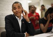 ! Obama Shrugs on Cell Phone