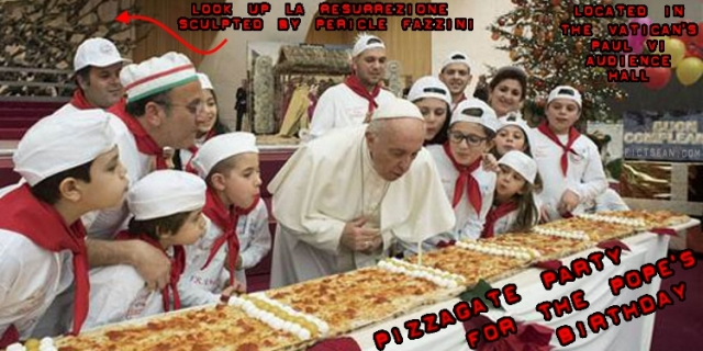 Pope's Birthday Childrens' Pizza Party PIZZAGATE PARTY BANNER