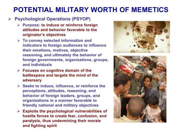 Presentation Military Memetics Tutorial 13 Dec 1180
