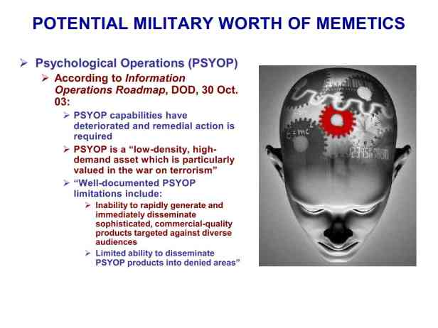 Presentation Military Memetics Tutorial 13 Dec 1183
