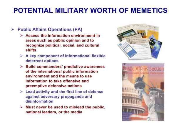 Presentation Military Memetics Tutorial 13 Dec 1187