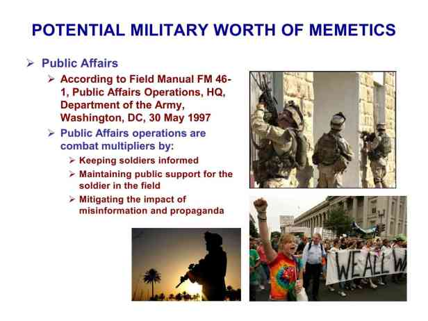 Presentation Military Memetics Tutorial 13 Dec 1190