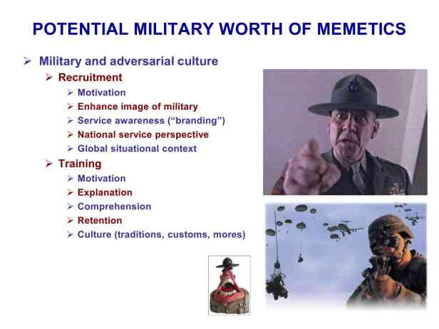 Presentation Military Memetics Tutorial 13 Dec 1191
